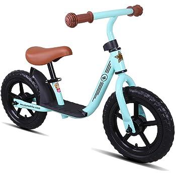 JOYSTAR ペダルなし自転車 2、3、4、5歳 キックバイク 12インチ 幼児用 子供用自転車 ランニングバイク 誕生日プレゼント 子供のギフト バランス感覚養成 軽量 コンパクト キッズバイク 贈り物 高さ調節可能 スポーツモデル 男の子 女の子 グリーン
