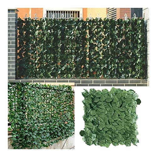 1x3m Artificial Privacy Fence Screen Faux Ivy Leaf Screening Hedge for Outdoor Indoor Decor Garden Backyard Patio Decoration