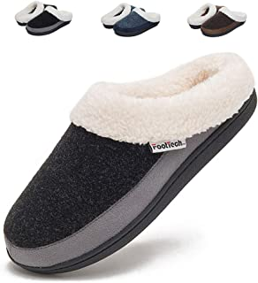 Women's Clog House Slippers Memory Foam Anti-Slip Indoor Shoes for Winter