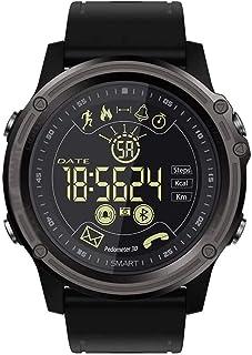 Reloj inteligente deportivo IP68 resistente al agua con pulsómetro, podómetro, recordatorio de mensajes, Bluetooth para iOS y Android