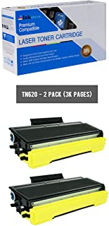 Inksters Compatible Toner Cartridge Replacement for Brother TN620/TN3230/TN3250 Black - Compatible with HL 5340D 5350DN 5370DW 5370DWT DCP 8080DN 8085DN MFC 8480DN (2 Pack)