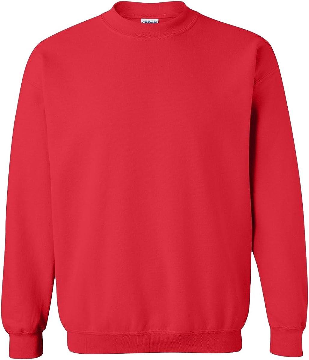Gildan Activewear 50/50 Crewneck Sweatshirt, XL, Red