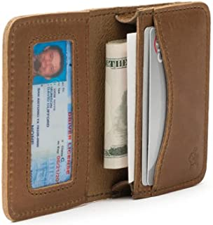 Saddleback Leather Co. RFID-Shielded Full Grain Leather Bifold Pouch Wallet for Men Includes 100 Year Warranty