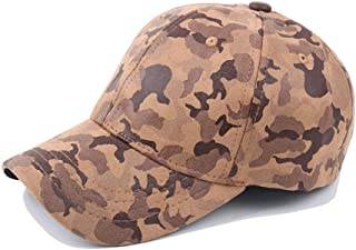 QIBAOHANG AU 2019 Baseball Cap Summer Ladies Cotton Camouflage Leather Pu Baseball Cap Visor Sports Cap Jungle Army Hat/*/-
