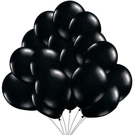 50 Ballons Noir Ballons de Baudruche Noirs Perlé Nacré. Ballons d'Anniversaire Gonflables 36cm / 3.2 g Décorations de fête et accessoires pour anniversaire