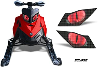 AMR Racing Sled Headlight Eye Graphic Decal Cover for Ski Doo Rev XP Summit - Eclipse Red