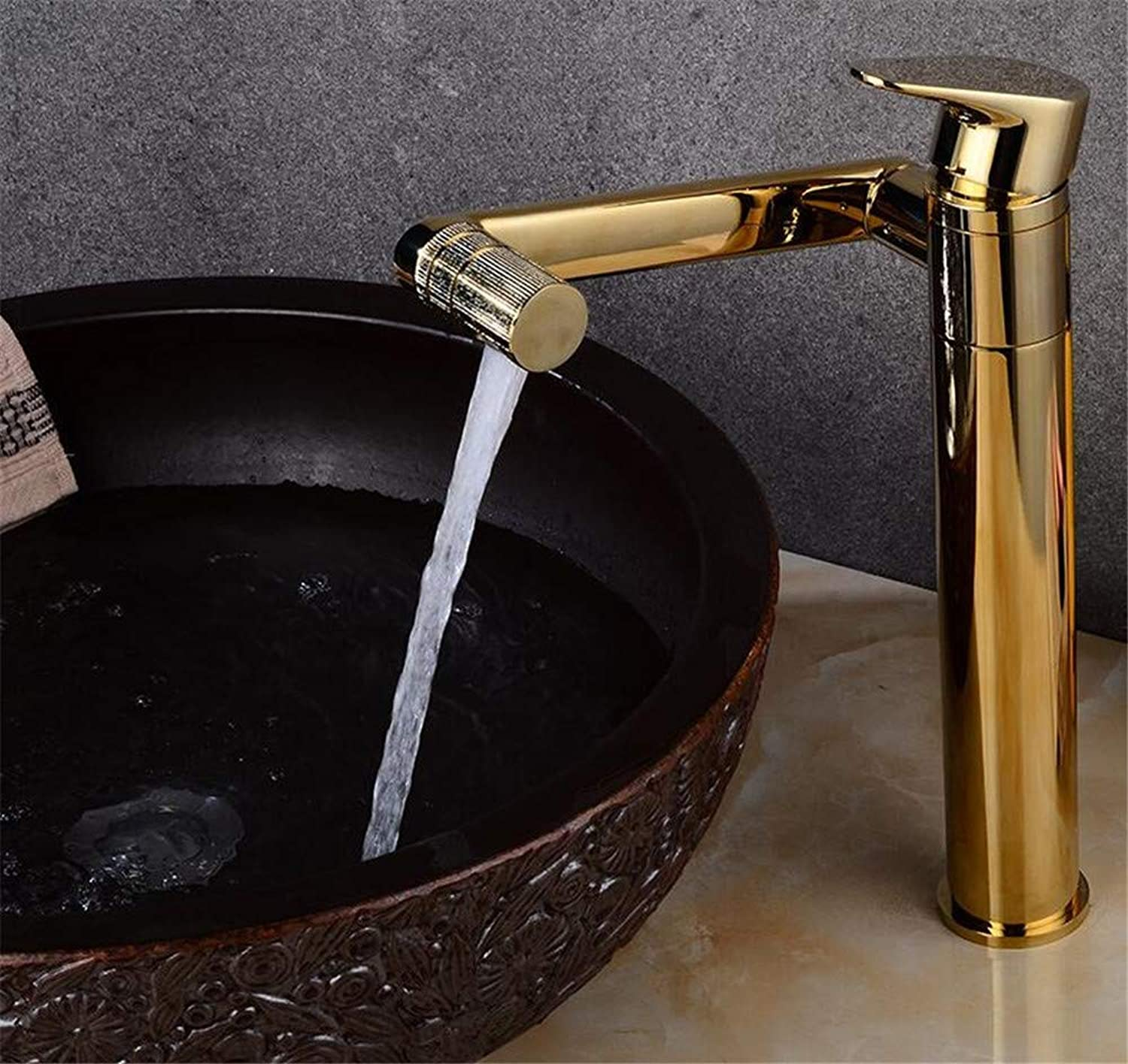 Oudan Hot and Cold Taps Basin Faucet Scalable redatable Shampoo golden Leader (color   -, Size   -)
