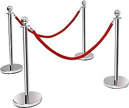 Abgrenzungs-St/änder oder Personen-Leitsystem heyChef Gurtband rot Abgrenzungspfosten Edelstahl Absperr-Pfosten Gurt Abstandshalter VIP B/änder