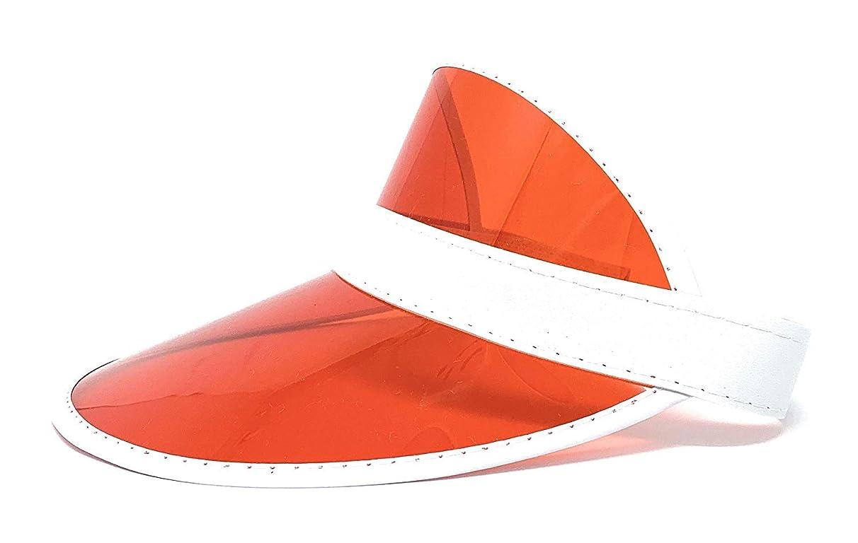 Meethome Retro Tennis Colored Vinyl Sun Visor, Plastic Color Visor, Perfect Neon Visor Beach Hat, Dealer Costume Visor, Vegas Visor, Bingo Hat, Retro 80s Visor, One Size