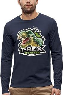Koszulka z długim rękawem DINOSAUR T-REX - PIXEL EVOLUTION - Mężczyzna