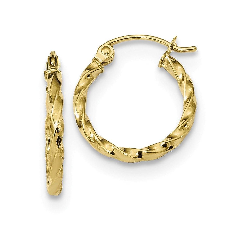 10k Yellow Gold Twist Hoop Earrings Ear Hoops Set Fine Jewelry Gifts For Women For Her