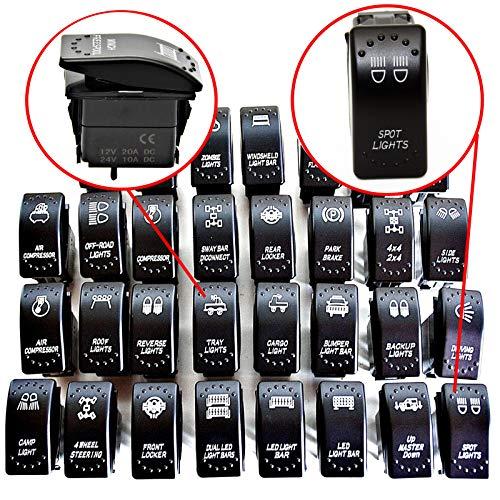 LED-Mafia Symbol Kippschalter Wippschalter Schalter Auto Boot KFZ LKW Licht 12V 24V (hintere Beleuchtung Arbeitsscheinwerfer Heckbeleuchtung - Cargo Lights JJ68)