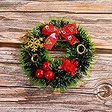 BUANFUA Corona de flores de Navidad de 12 cm con corona de festival para puerta delantera, boda, pared, decoración del hogar