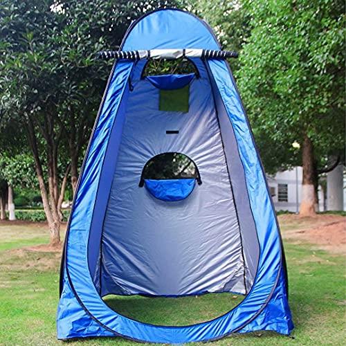 Camping Duschzelt, 120 * 120 * 190cm Pop Up Duschzelt Privatsphäre Zelt Camping mit 2 Fenstern,Camping-Toilettenzelt,Umkleidekabine für Camping Beach Outdoor-Einfache Einrichtung
