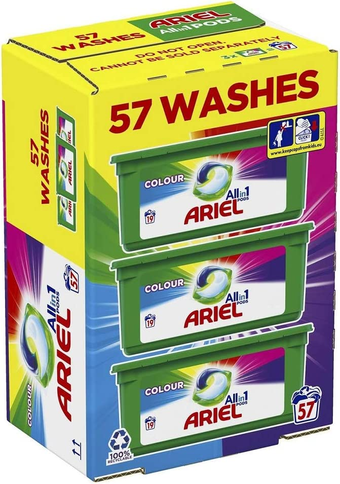 Ariel All in 1 Liquid Colours Max 61% OFF Pods Detergent 57's New product type