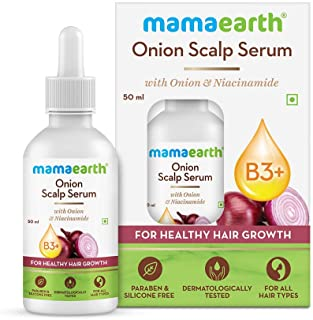 Mamaearth Onion Oil Scalp Serum with Onion Oil & Niacinamide for Healthy Hair Growth – 50ml
