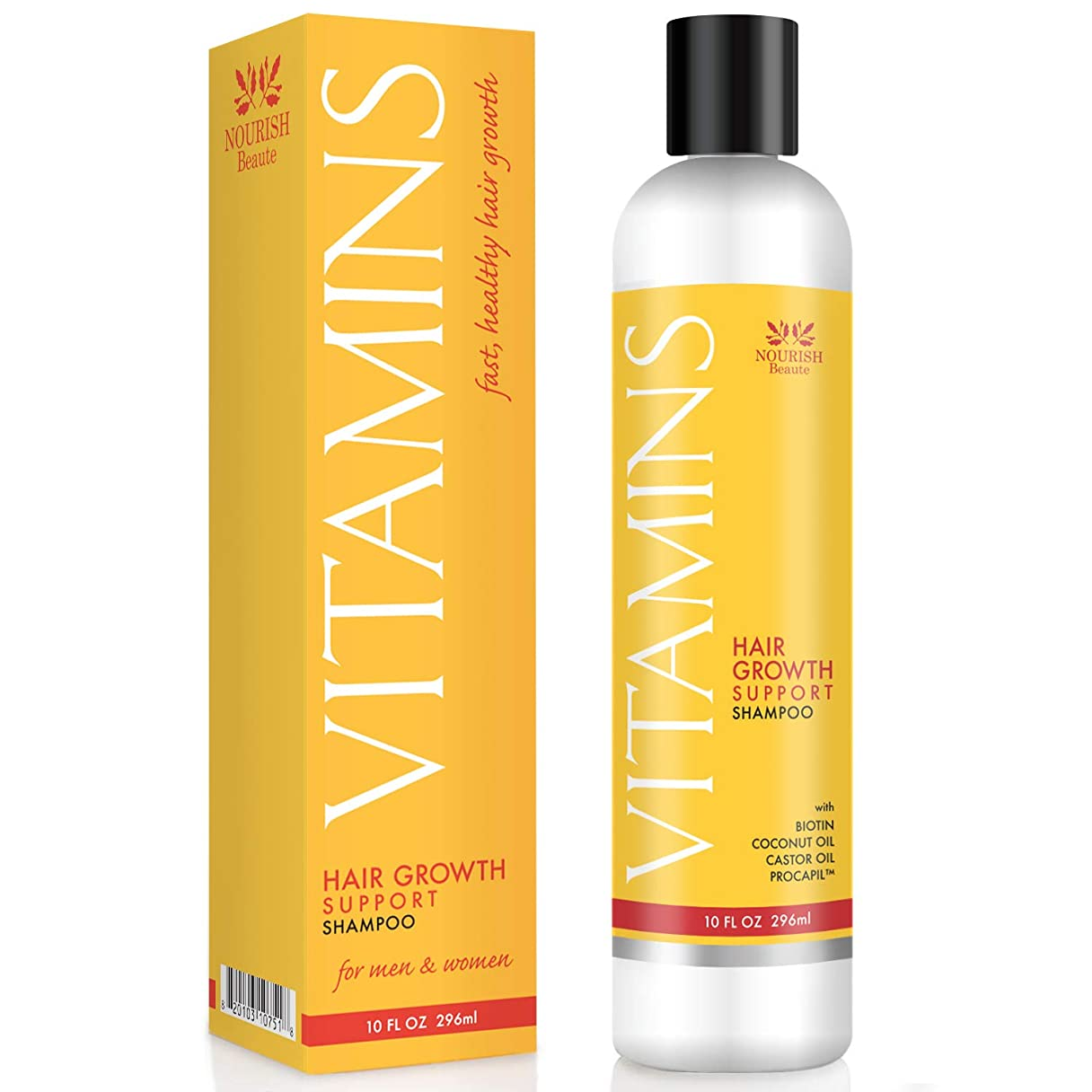 攻撃酸っぱい荒れ地Vitamins Hair Loss Shampoo - 121% Regrowth and 47% Less Thinning - With DHT Blockers and Biotin for Hair Growth – 2 Month Supply