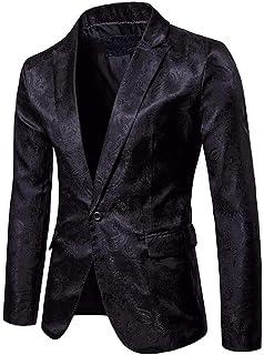 Men's Suit Jacket Regular Fit Jacquard Business Suit Blazer Comfortable Sizes Slim Fit Wedding Tuxedo Floral Printed Party...