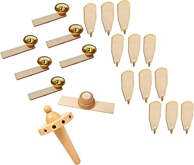 "BRUBAKER Replacement Kit for 18"" & 24"" Natural Pyramid - 12 Fans, 6 Candle Holders, Fan Blades Holder & Nub"