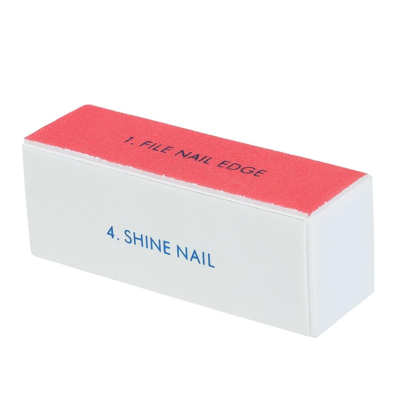 Goshang ブロックバッファー 爪やすり 爪磨き 4面ブロックバッファー ネイルシャイン ネイルケア