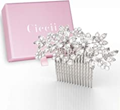 Wedding Hair Comb for Brides, Bridesmaids – Silver Crystal Bridal Hair Accessories for Women
