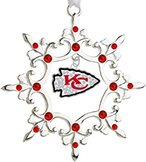 Final Touch Gifts NFL Rhinestone Charm Snowflake Ornament
