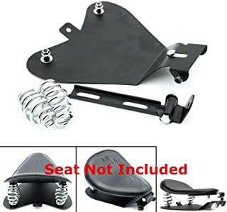 MeterMall Motorcycle Single-seat Spring Seat Plate Support for Harley Sportster XL883