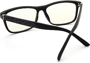 Jnadeoo Blue Light Blocking Glasses for Men, Lightweight TR90 Class Frame Clear Lenses for Eye Protection, Anti Eyestrain, Headache, Help Sleep Better Computer Gaming Glasses (Matte Black Color)