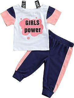 Newborn Infant Baby Girl Clothes Set Short Sleeve T-Shirt...