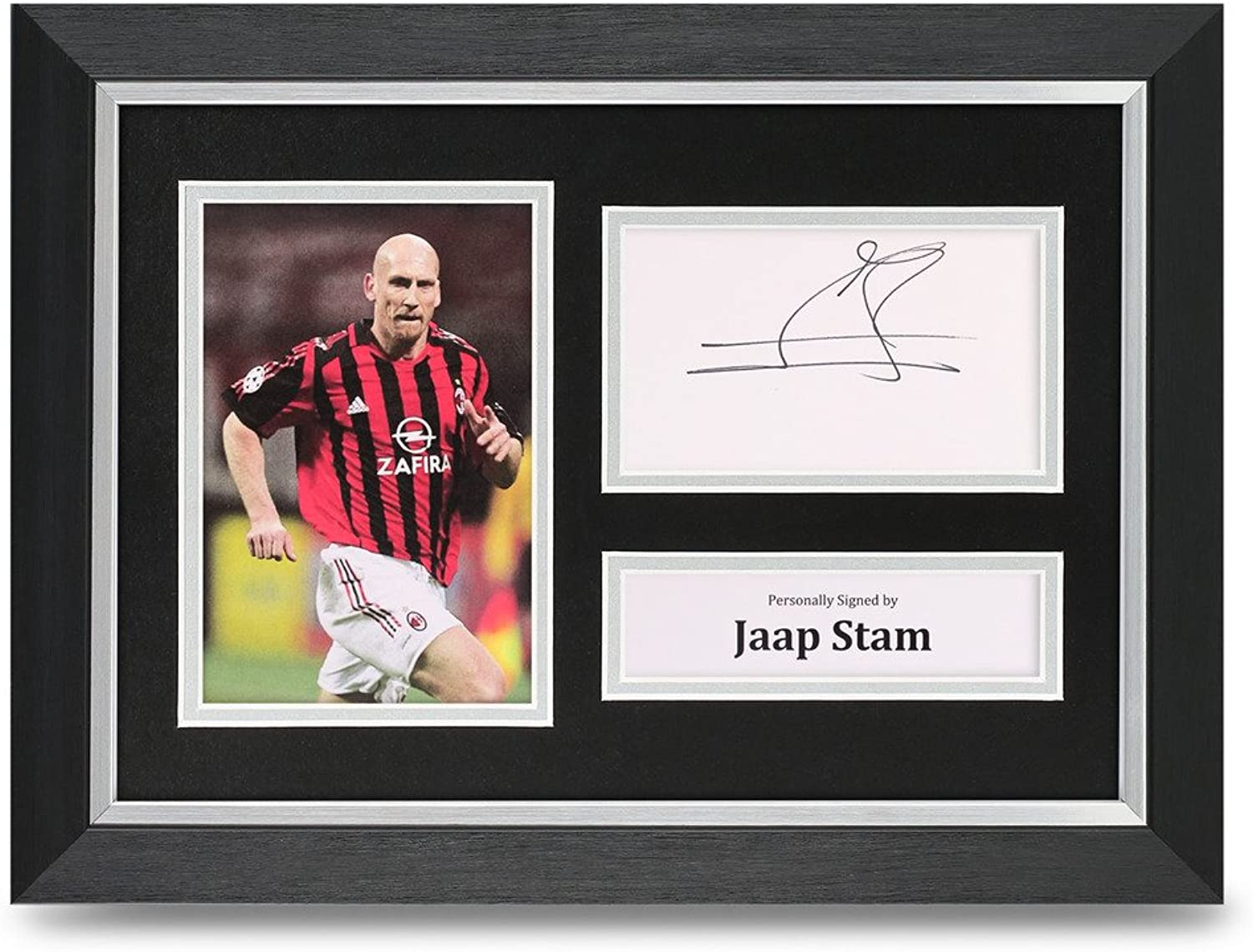 Jaap Stam Signed A4 Photo Framed AC Milan Memorabilia Autograph Display COA