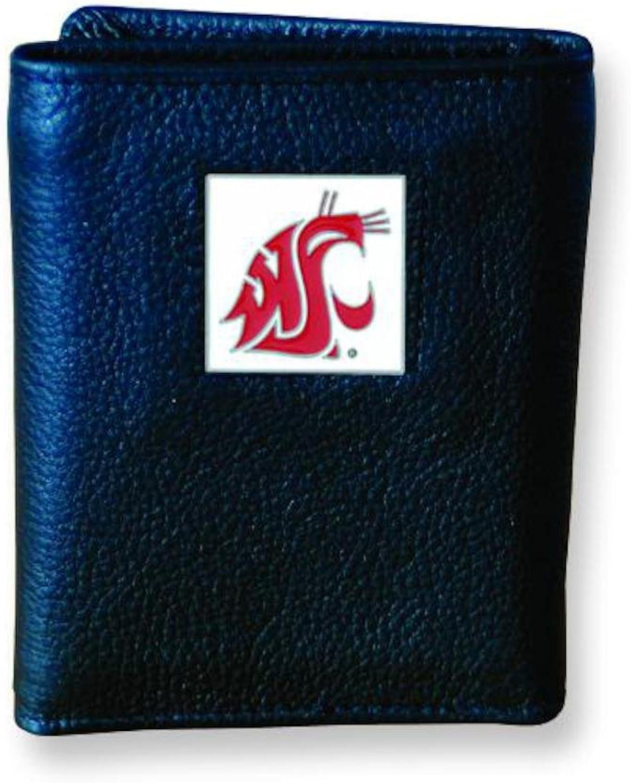 Washington State University Trifold Leather Wallet