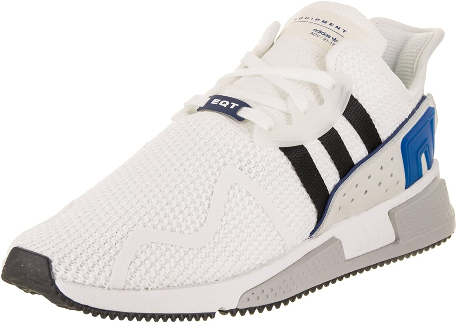 Adidas Originals Men's EQT Cushion ADV Running shoes (White, Black, Royal - Size 9.5)