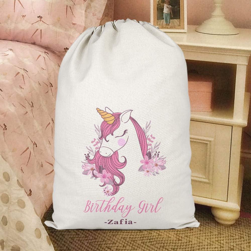 Unicorn Girls Pink Purple Print House Unisex Unicorn Birthday Custom Name Present Sack L Personalised Birthday Gifts For Kids