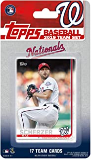 Washington Nationals 2019 Topps Factory Sealed Special Edition 17 Card Team Set with Max Scherzer and Stephen Strasburg Plus