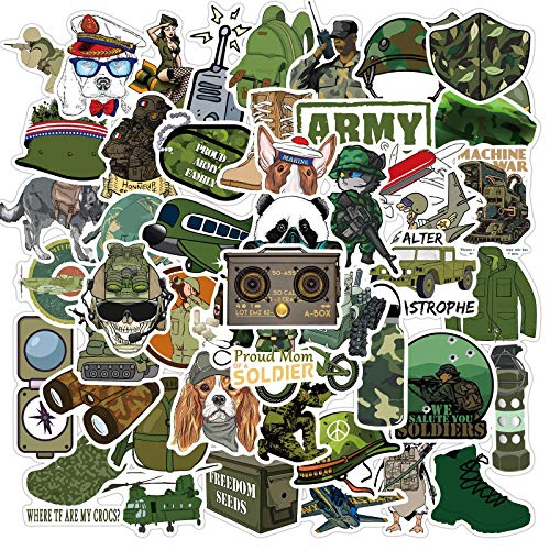 CHUDU Pegatinas geniales de Guerra de la Fuerza Militar, portátil, monopatín, Motocicleta, Guitarra, Bicicleta, Impermeable, Pegatina de Graffiti, calcomanía, Juguetes para niños, 50 Uds