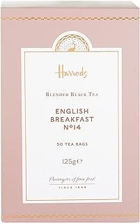 Harrods London. No. 14 English Breakfast, 50 Tea Bags 125g (1 Pack) NEW RANGE - USA Stock