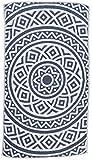 Bersuse 100% Baumwolle - Venice Strandtuch - Dunkelblau 100x180 cm