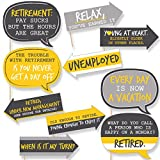 Funny Retirement - Party Photo Booth Props Kit - 10 Piece