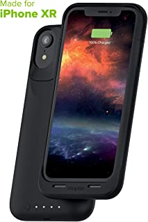 mophie Juice Pack Air - Mfi Certified - Wireless Charging - Protective Battery Pack Case for Apple iPhone XR – Black