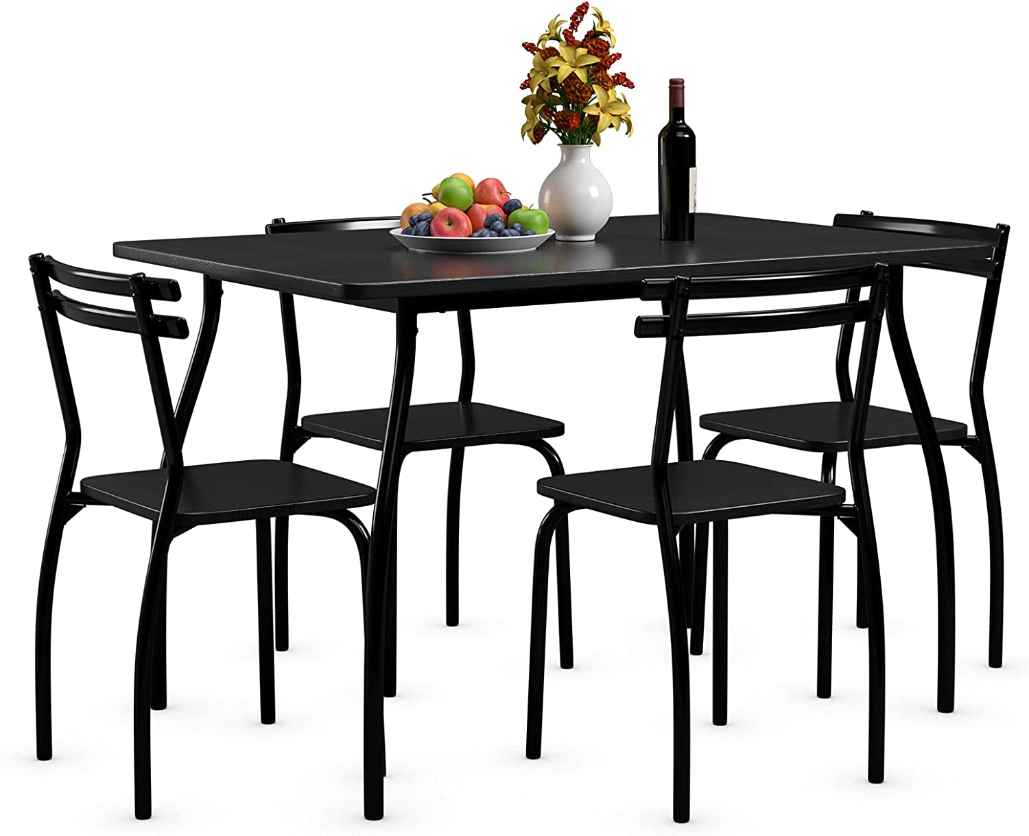 Giantex5PcsDiningTableSet for 4 Metal an Modern Max 80% OFF Manufacturer regenerated product