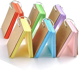 Sponsored Ad – Flash Cards, 6 Pack 300 Pcs Study Cards Revision Cards Index Cards Kraft Paper Memo Scratch Pads with Metal...