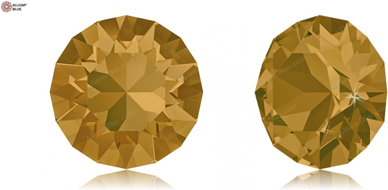 Swarovski Crystals 1170412 Round Stones 1088 SS 29 TOPAZ F, 288 Pieces