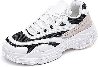 [Fainyearn] レディース 厚底スニーカー スニーカー 厚底 厚底靴 身長アップ 美脚 ランニングシューズ 運動靴 スポーツシューズ カジュアル 通学 旅行 運動 ウォーキングシューズ 疲れにくい