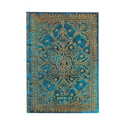 Paperblanks 18-Monatskalender 2020-2021 Azurblau | Horizontal | Midi (130 × 180 mm)
