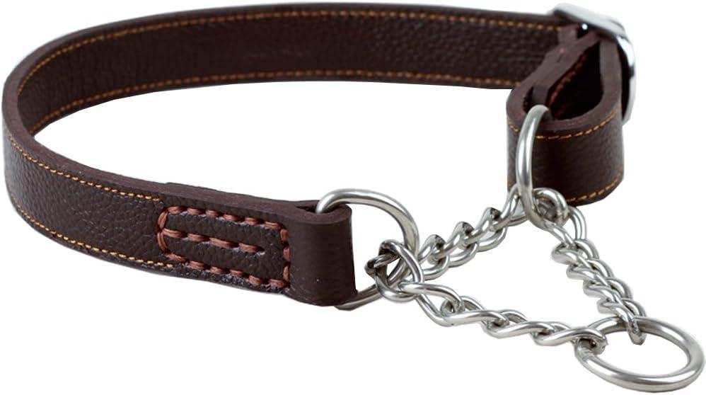 Max 80% OFF Tellpet Leather Dog Choke Collar Martingale Award-winning store