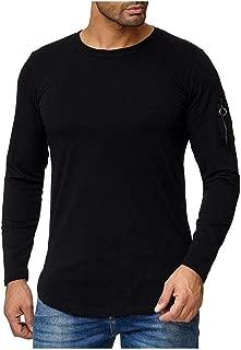 iLOOSKR Autum Winter Men Plus Size Zip Long Sleeve Sweatshirt Solid Casual Tops Blouse