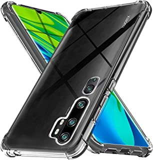 Cover for Xiaomi Mi Note 10/ Note 10 Pro Case, [Strengthen Version with Four Corners] [Camera Care Protection] Shockproof ...