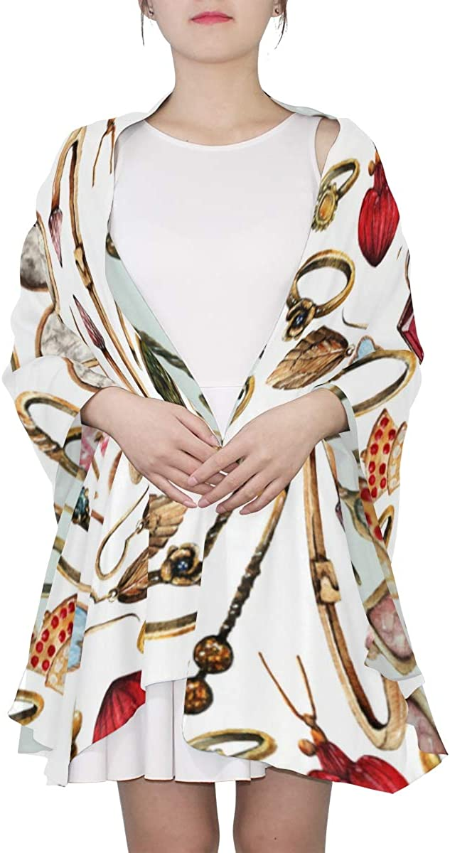 Diamond Hand Painted Unique Fashion Scarf For Women Lightweight Fashion Fall Winter Print Scarves Shawl Wraps Gifts For Early Spring
