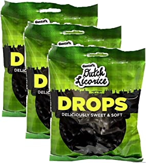 Gustaf's Dutch Licorice Deliciously Sweet & Soft Drops, 5.29oz - Pack of 3
