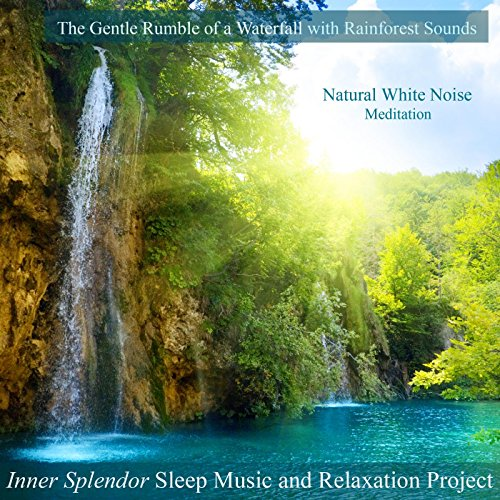 The Gentle Rumble of a Waterfall With Rainforest Sounds - Natural White Noise Meditation